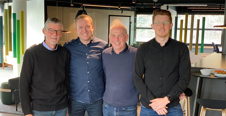 Odd Halvorsen, Øyvind Aarre, Armand Skandsen og Espen Kleppa